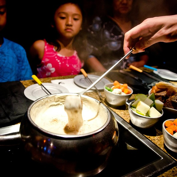 Traditional Swiss Cheese Fondue at The Melting Pot