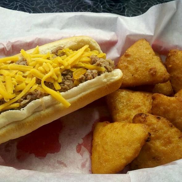 Pulled Pork Dog and Mac Bites @ Wally Dogs LLC