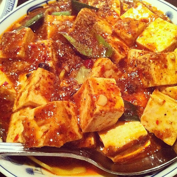 Bomb Mapo Tofu from @cafechina_nyc. Peppercorns sear your mouth off hot. @ Café China