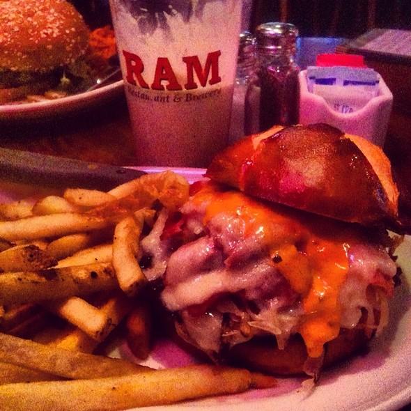 Reuben My Burger @ Ram Restaurant & Brewery