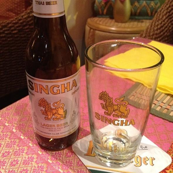 Singha Lager Beer @ Lanna Thai