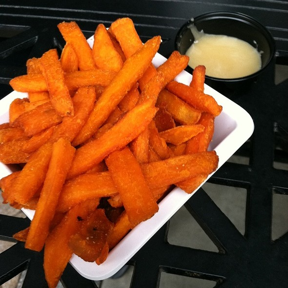 Sweet Potato Fries W/Honey Sauce @ BT'S Burger Joint