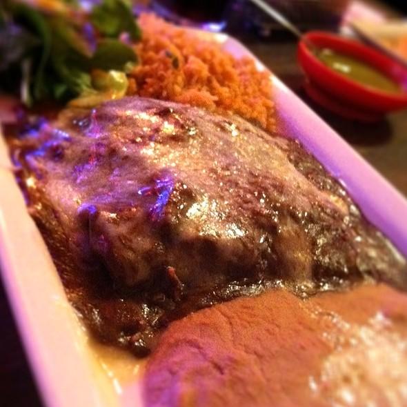 chicken mole enchiladas @ L & J Cafe