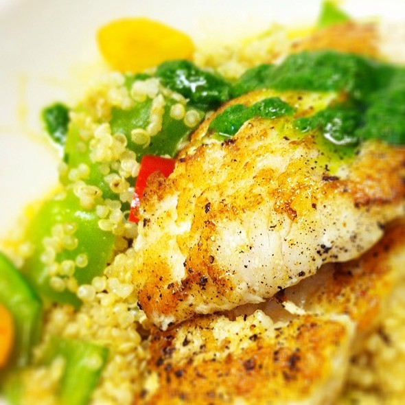 Ling Cod With Quinoa