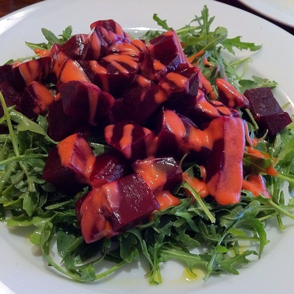 Roasted Beet Salad, With Arugola And Raspberry Vinaigrette  - Risibisi, Petaluma, CA