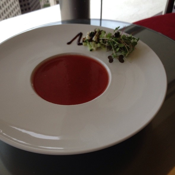 Chilled Texas Watermelon Soup - Spindletop, Houston, TX