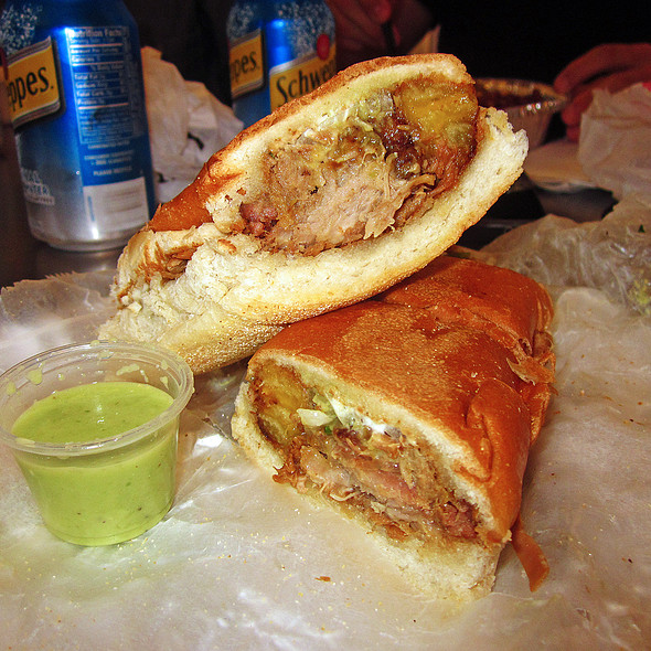 Pernil with a Twist Sandwich