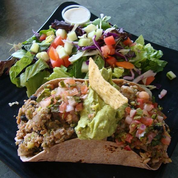 Vegan Burrito and Salad