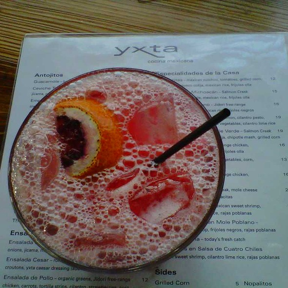 Blood Orange Margarita @ Yxta Cocina Mexicana