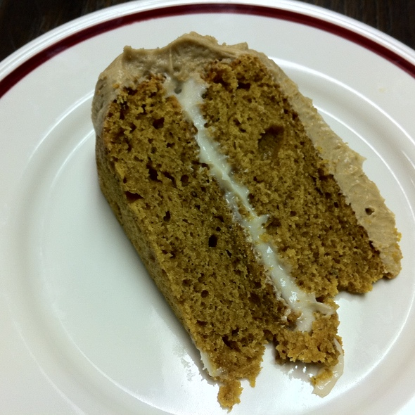 Pumpkin Cream Cheeze Cake with Caramel Frosting @ Dough Bakery