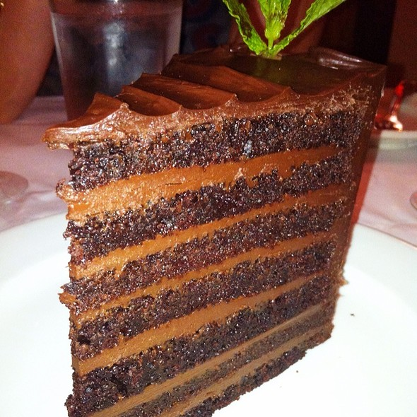 Texas Funeral Fudge Cake - Icon Grill, Seattle, WA