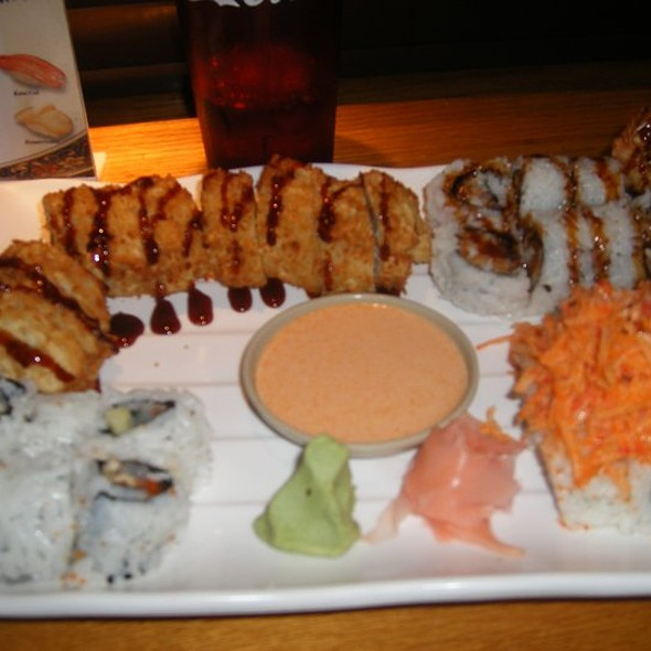 godzilla roll, dragon roll, scallop roll and volcano roll @ Ichiban Japanese Steakhouse and Sushi Bar