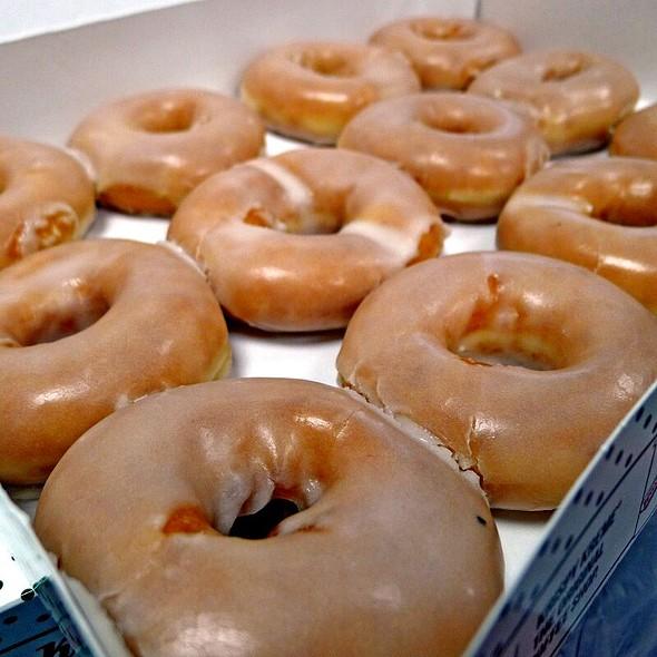 Dozen Original Hot Glazed Doughnuts @ Krispy Kreme