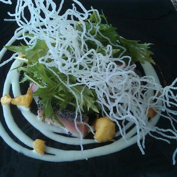 Tuna, wasabi, tempura couliflower, noodles @ Ocean Club