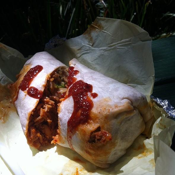 Spicy Pork Kimchee Burrito @ HRD Coffee Shop