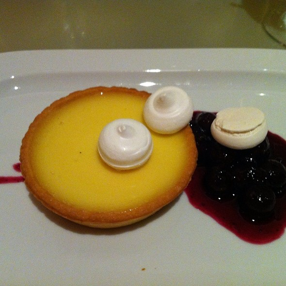 Lemon Tart With Blueberry Compote - Brasserie, New York, NY
