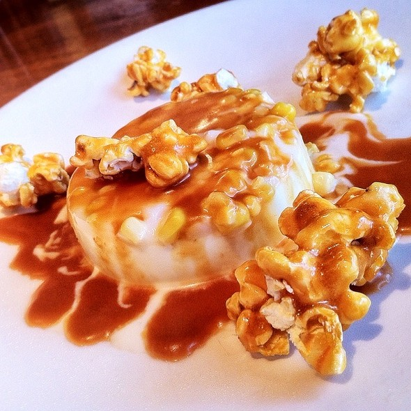 Caramel Corn Panna Cotta - Food Dance, Kalamazoo, MI