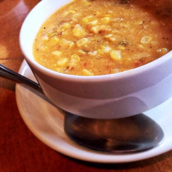 Roasted Corn Soup With Bacon - Food Dance, Kalamazoo, MI