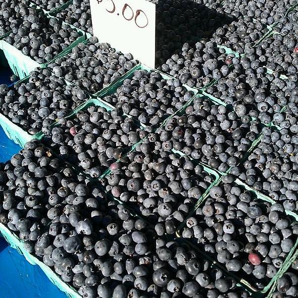 Blueberries at Oak Park Farmers' Market in Oak Park, IL