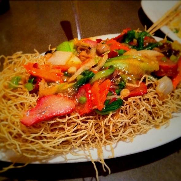 BBQ Pork Pan Fried Crispy Noodle @ First Chinese B-B-Q