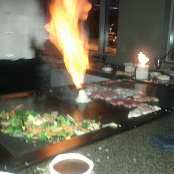 Flaming Shrimp @ Ginza Japanese Steakhouse