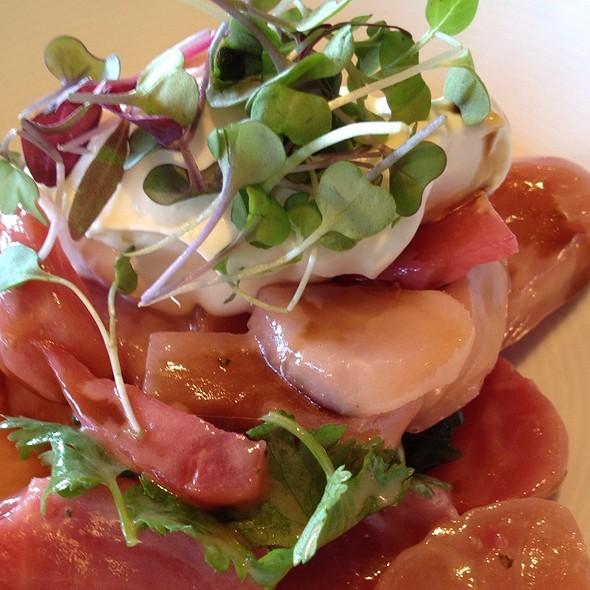 Ciogga Beet Salad With Goat Cheese Panna Cotta, Papalo Coriander, Balsamic Reduction - L'Appart Resto, San Anselmo, CA