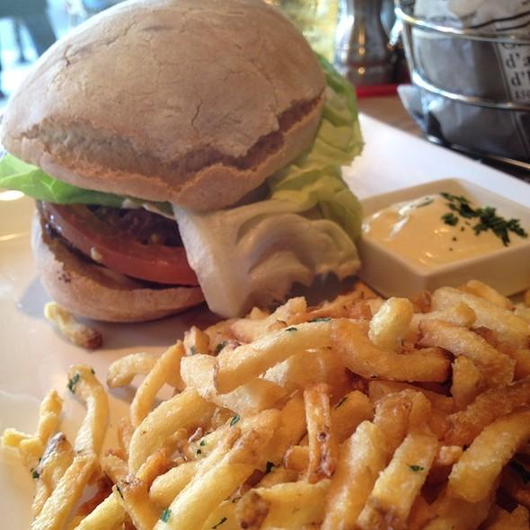 1/3 Lb Of Masami Kobe Burger, Morbier Cheese, Tomatoes, Lettuce, Red Onion, Aioli On Ciabatta Bread - L'Appart Resto, San Anselmo, CA