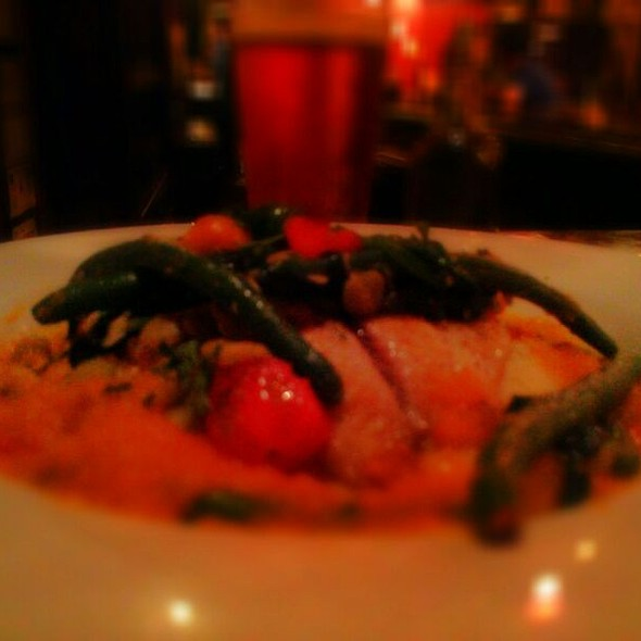 Pan Seared Tilapia with Tomatoes and Butter Beans @ Bistro At the Bijou