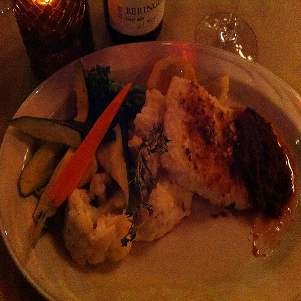 Macadamia-crusted Halibut - Peppercorn Grille, Big Bear Lake, CA