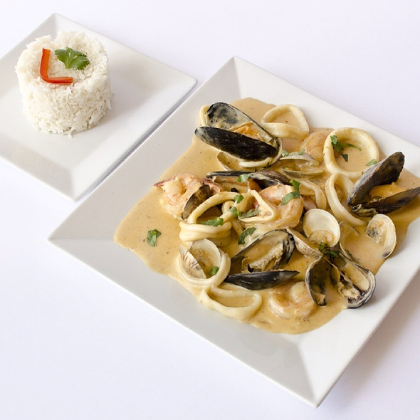 Picante de mariscos @ Fusion And Flavors Peruvian Restaurant