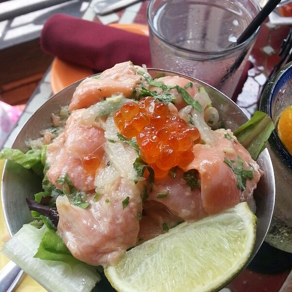 Salmon Ceviche With Caviar