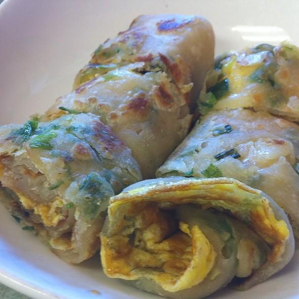 Fried Green Onion Pancake With Egg @ My Dumplings
