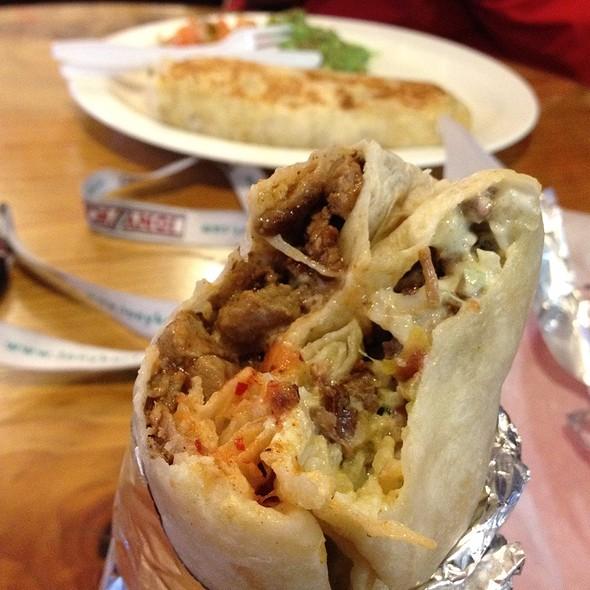 Super Carne Asada Burrito @ La Morena Taqueria