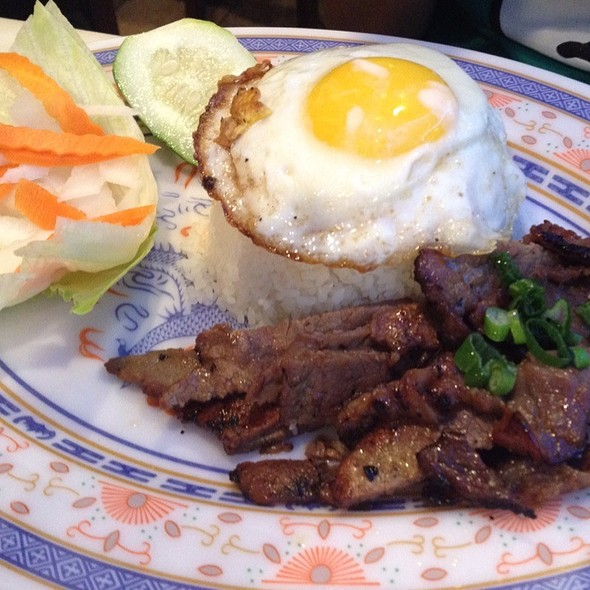 Grilled Beef With Fried Egg @ Pho Saigon