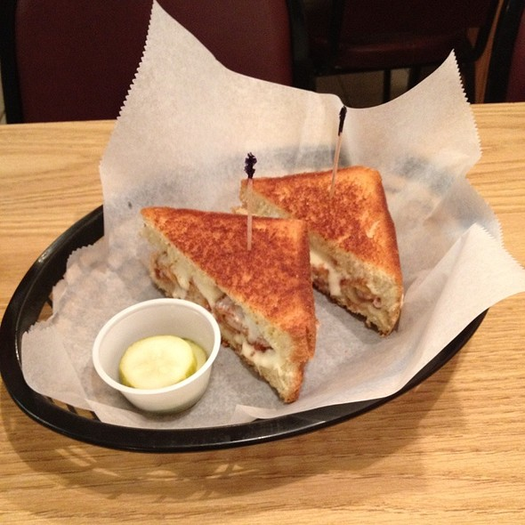 Grilled Cheese Stuffed With Fried Shrimp @ Grilled Cheese & Crab Cake Co.