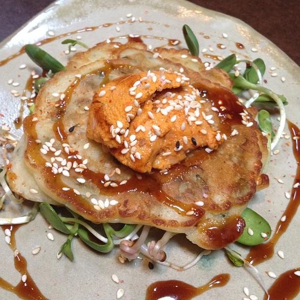 Mendocino Sea Urchin, Ginger/Scallion Pancake @ State Bird Provisions
