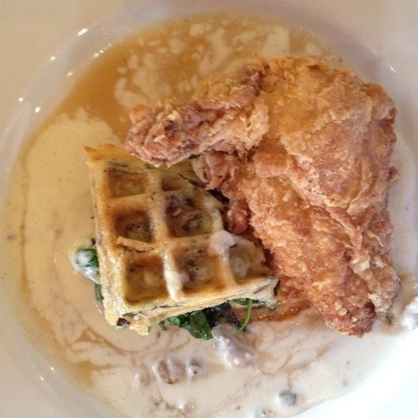 Fried Chicken With Pecan Wild Rice Waffle - Mat & Naddie's, New Orleans, LA