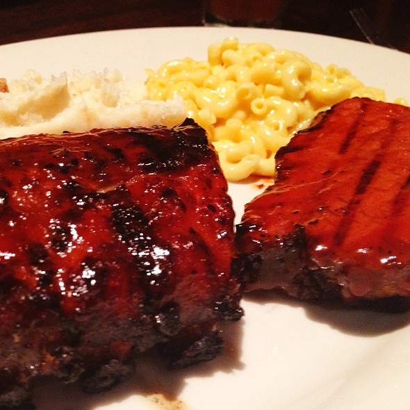 BBQ Combo Plate @ Wood Ranch BBQ and Grill