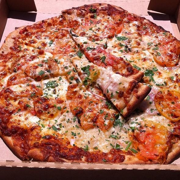 Heirloom Tomatoes & Mozarella @ Cheese Board Pizza