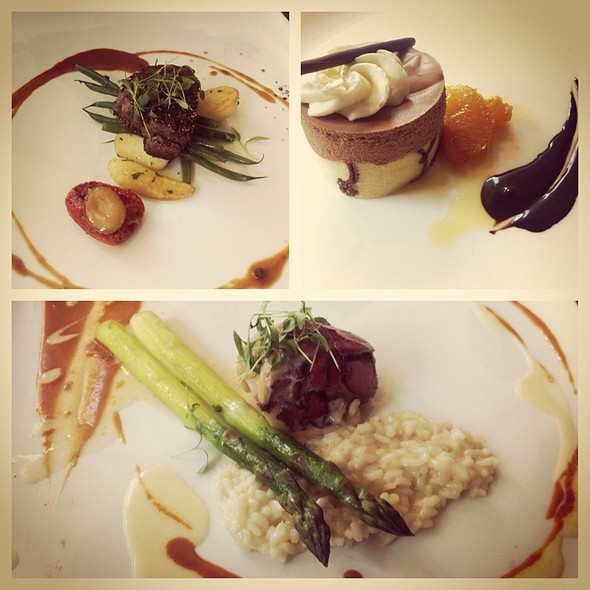Lobster Risotto, Filet Mignon, And Chocolate Cake @ Artisans Restaurant