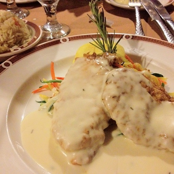 Chicken Francaise with Parmesean/romano Pasta - Primarily Prime Rib - South Point Casino, Las Vegas, NV