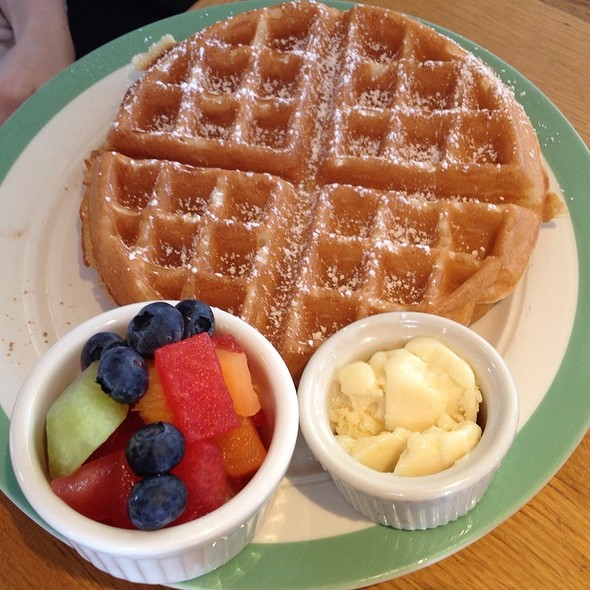 Waffles with Fruit - TART Restaurant, Los Angeles, CA
