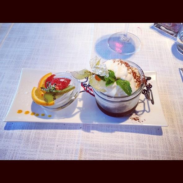 Mousse Au Chocolat Blanc @ Restaurant Clé De Sol