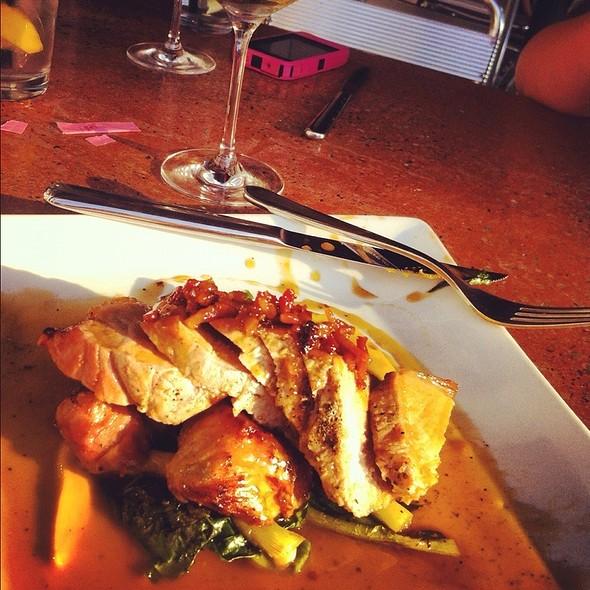 Pork Tenderloin With Asiago Sweet Potato Hash And Cabbage Salad @ 202 Market