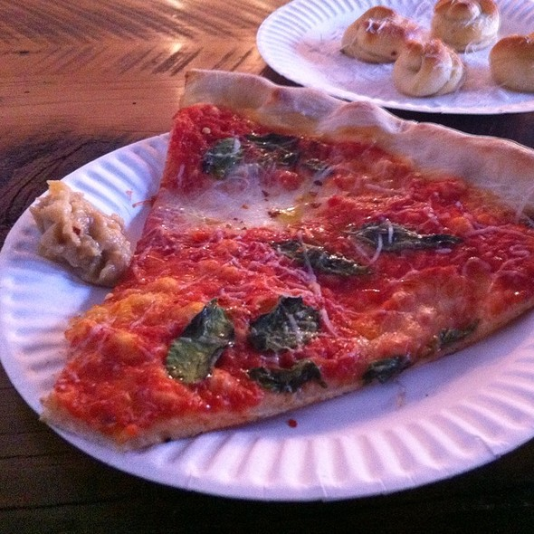 Margherita Pizza Slice @ North Of Brooklyn Pizzeria