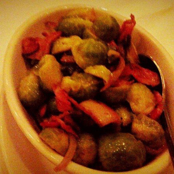 Grilled brussels sprouts with bacon @ Morton's The Steakhouse