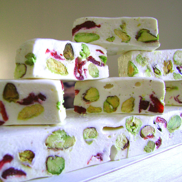 Pistachio-Cranberry French Nougat