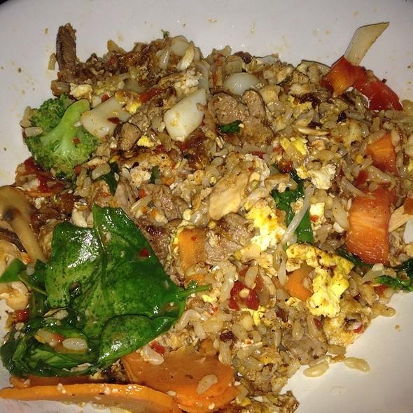 Brown Rice Bowl With Calamari, Beef, Tilapia - Big Chow Grill, Atlanta, GA