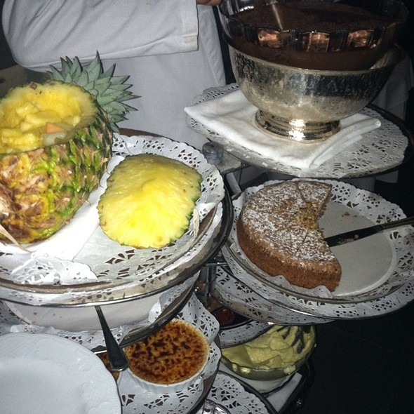 Dessert tray - Barbetta Restaurant, New York, NY