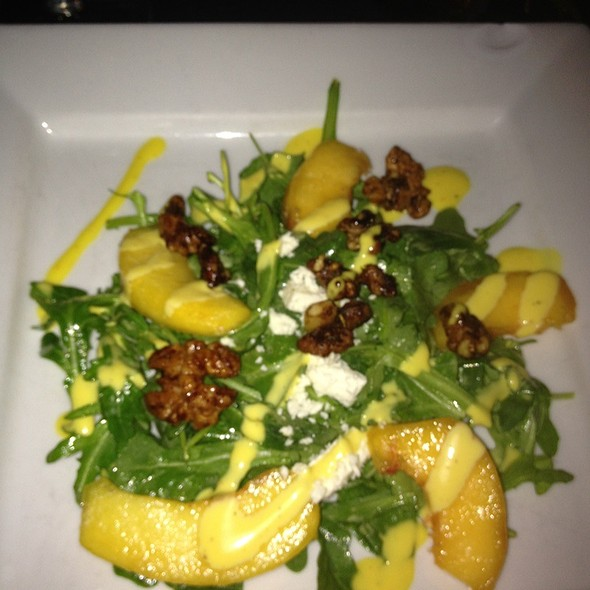 Raddicchio Abd Grilled Peach Salad With Goat Cheese - Cafe Troia, Towson, MD